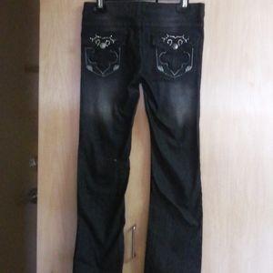 NWOT Size 3 Beaded Black Jean's